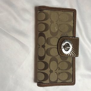 Coach brown logo wallet